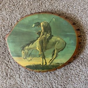 End of the Trail Live Edge Wooden Plaque